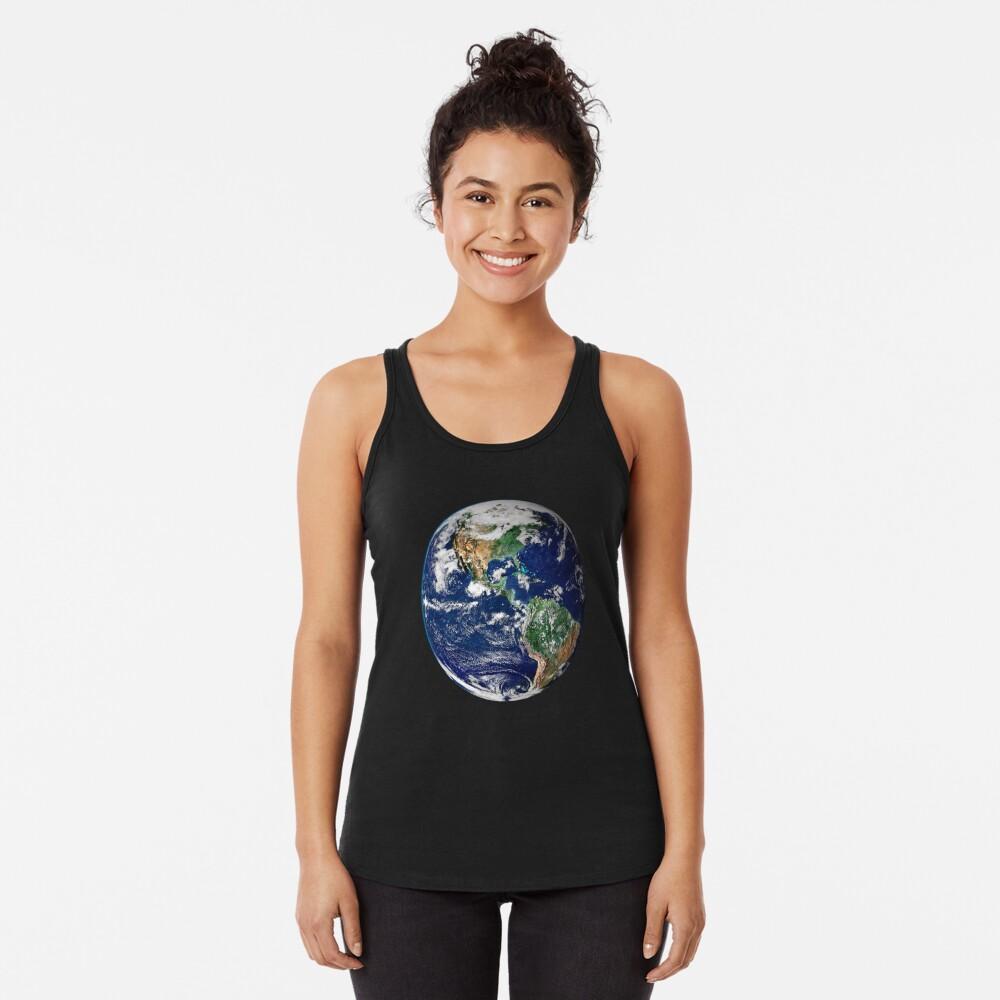 Erde aus dem Weltraum Racerback Tank Top
