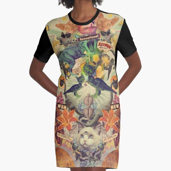 Meowosaurus Graphic T-Shirt Dress
