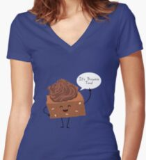 BROWNIE TIME! Women's Fitted V-Neck T-Shirt