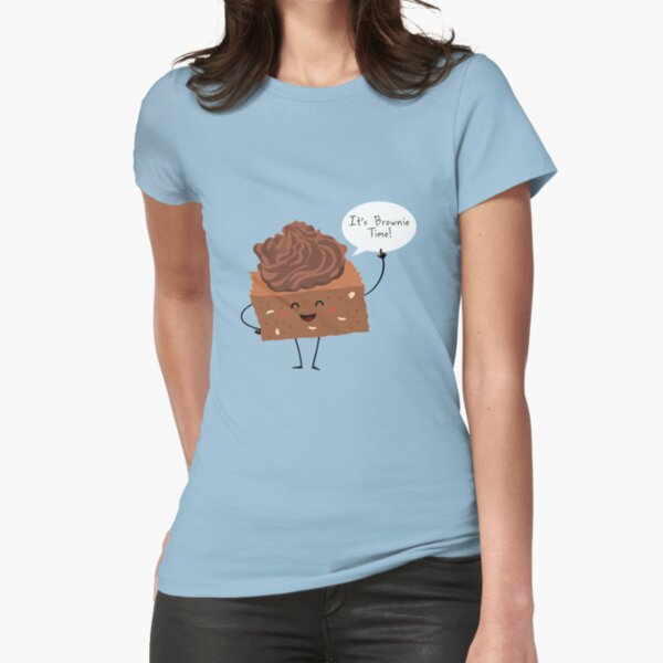 BROWNIE TIME! Fitted T-Shirt