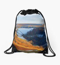Evening At The Horseshoe Pass Drawstring Bag