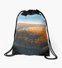 Evening At The Horseshoe Pass 2 Drawstring Bag