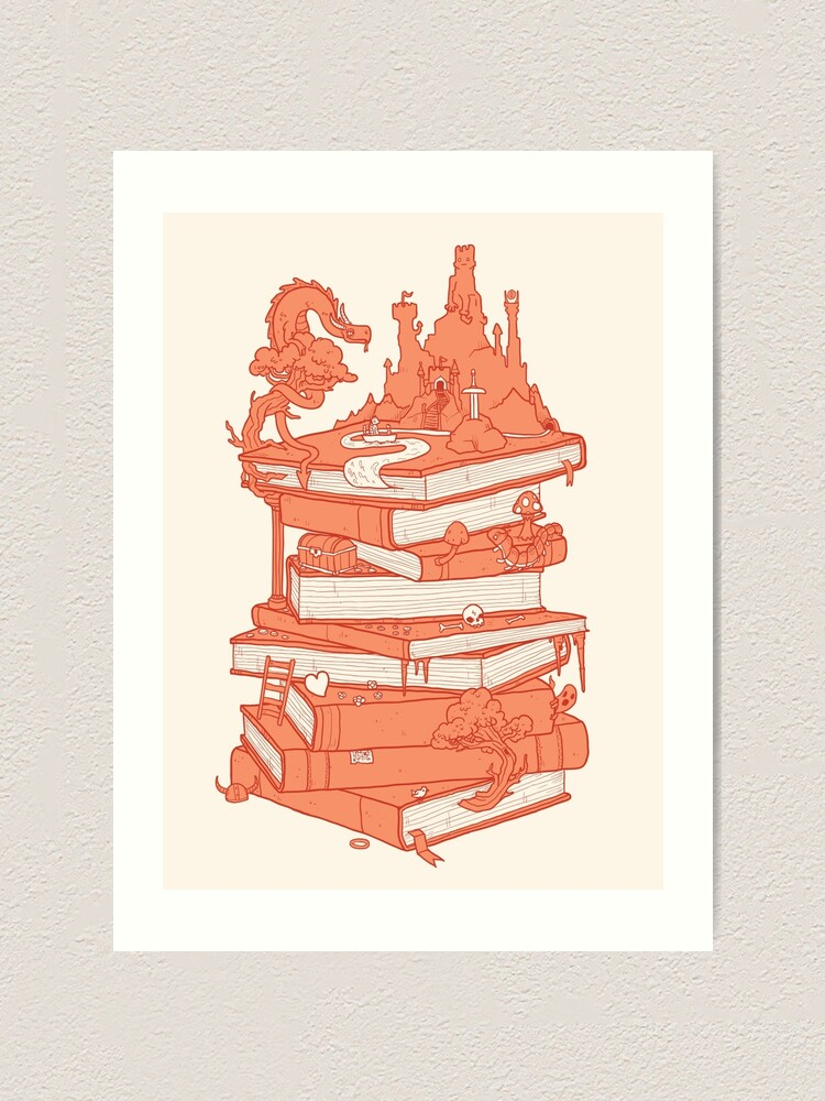 Alternate view of Magic of books Art Print