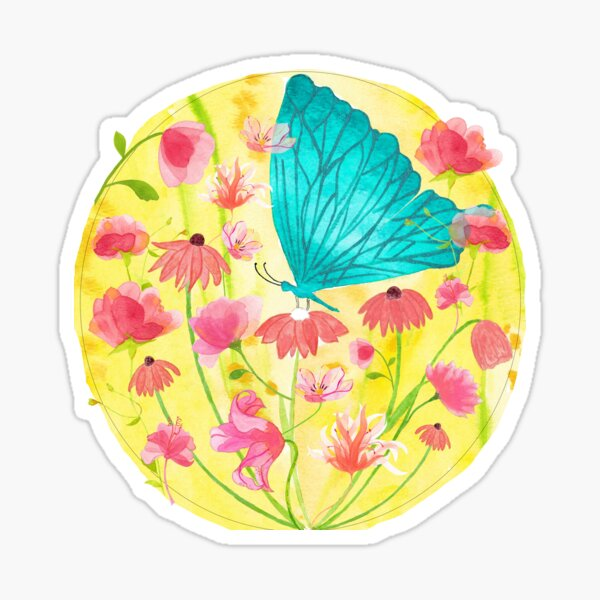Butterfly blooming spring Sticker
