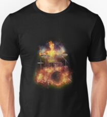 Flaming Skeleton Drummer Set 1 T-Shirt
