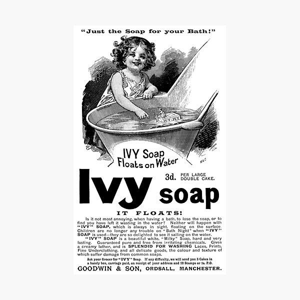 1894 Ivy Soap Advertisement Photographic Print