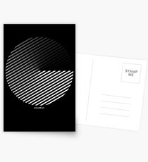 Stripes can be in a disc Postcards