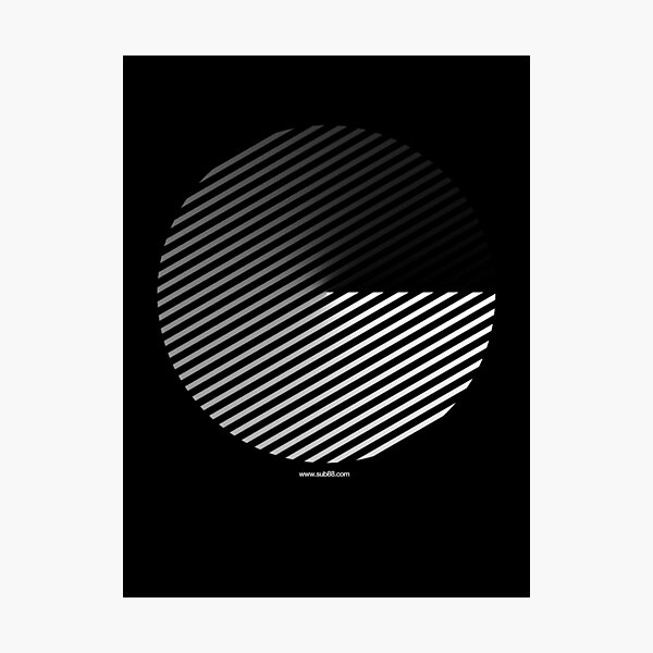 Stripes can be in a disc Photographic Print