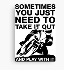 Take It Out And Play With It, Sport Bike Tee Shirt Canvas Print