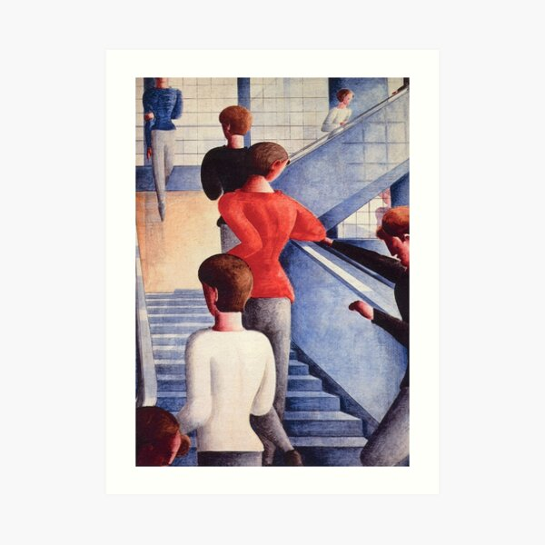 Oskar Schlemmer Bauhaus Bauhaustreppe Art Print