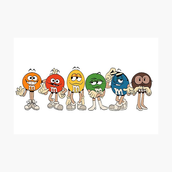 M&M's Characters Chocolate Candy  Photographic Print