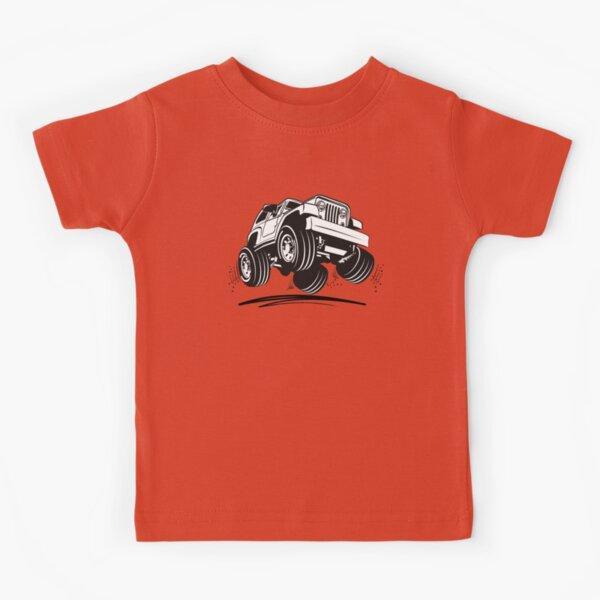 Cartoon Jeep Wrangler Kids T-Shirt