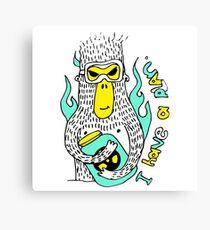 Evil genius monkey Canvas Print