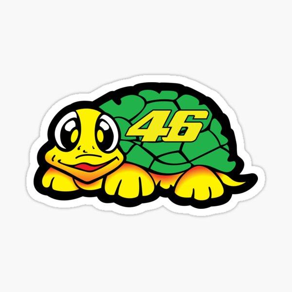 Valentino Rossi Turtle Facing Left Sticker