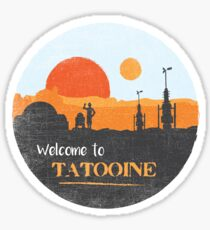 Welcome to Tatooine Sticker