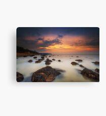 Woodside Beach Sunset Canvas Print