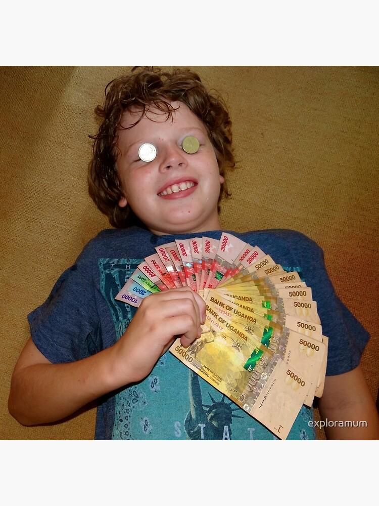 kid with money by exploramum