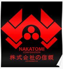 NAKATOMI PLAZA - DIE HARD BRUCE WILLIS (RED) Poster
