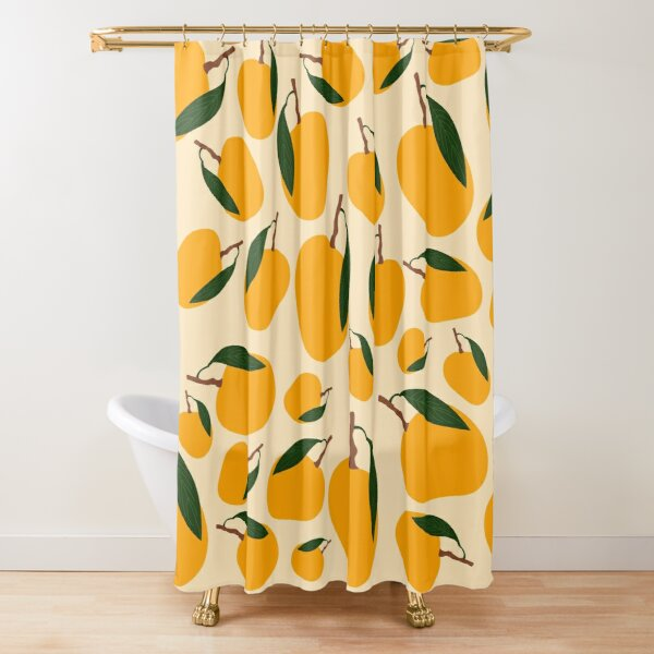 Mango Summer Fruit Pattern Shower Curtain