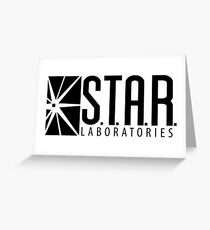 S.T.A.R. Laboratories | Black [HD] Greeting Card