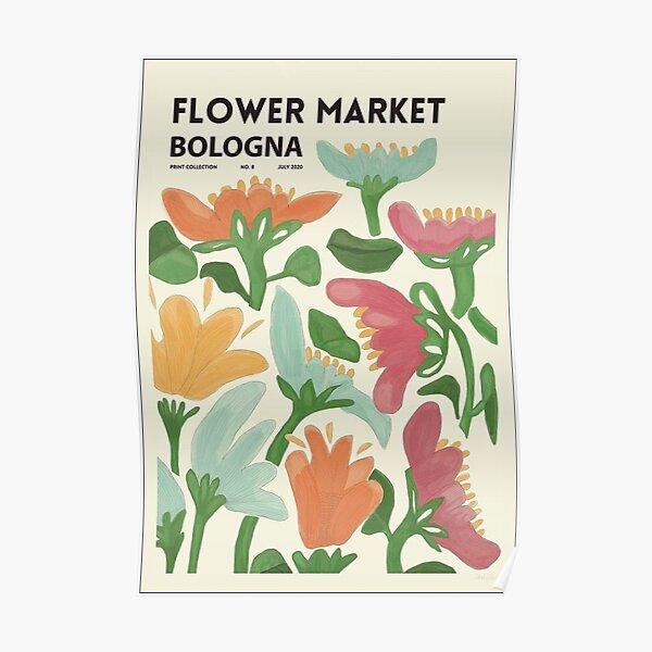 Flower Market Bologna Poster Poster Poster