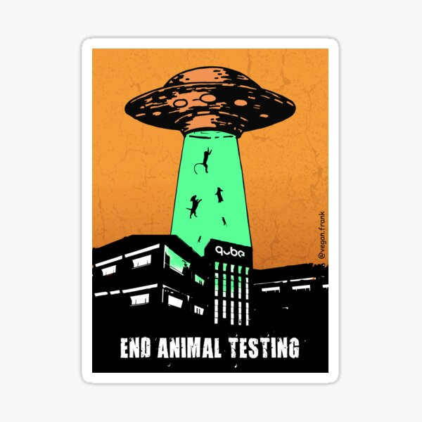 Aliens to the rescue - mission: Animal Testing Sticker