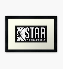 S.T.A.R Laboratories   White [HD] Framed Print