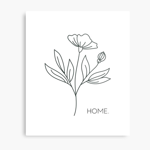 Home in the Flowers Metal Print