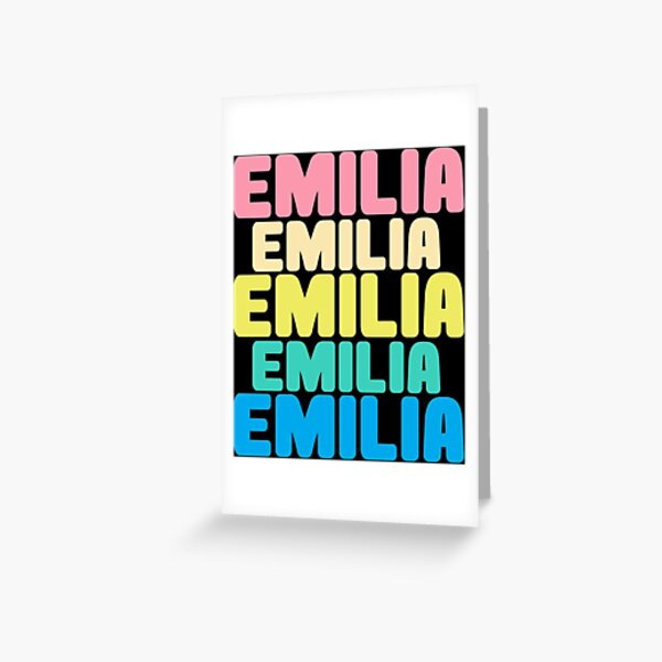 Emilia personalized gift Greeting Card