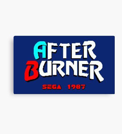 AFTER BURNER SEGA ARCADE Canvas Print