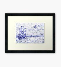 Piratenschiff Framed Print