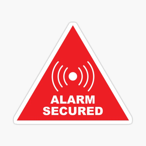 Security System: Alarm Secured Sticker