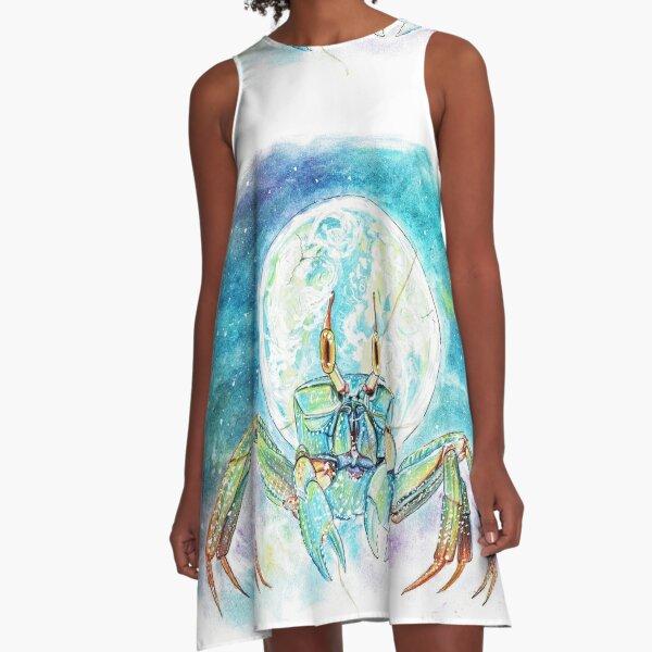 Galaxy Krabbe A-Linien Kleid