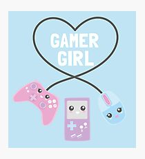 Gamer girl Photographic Print