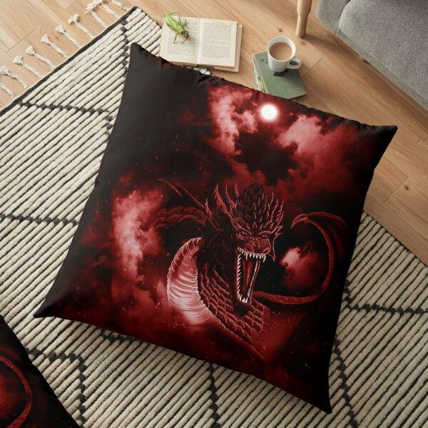 Pink Moon Fire Dragon Cloud Surfer Floor Pillow