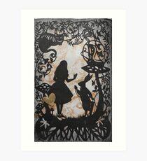 Alice Paper Cutout Metallic Art Print