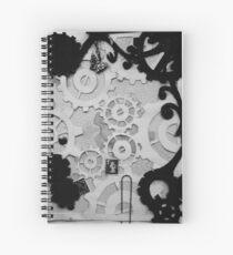 Steampunk Paper Overlays Spiral Notebook