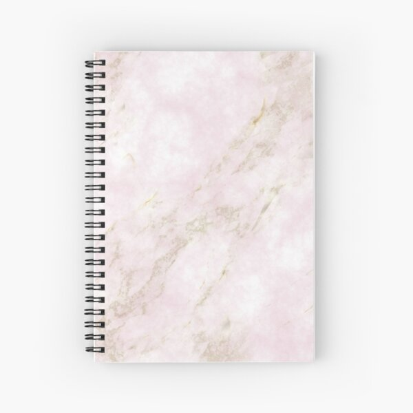 Rose Gold Marble Spiral Notebook