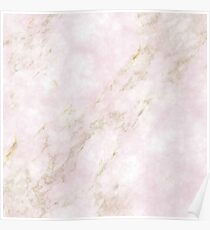 Rose Gold Marble Poster