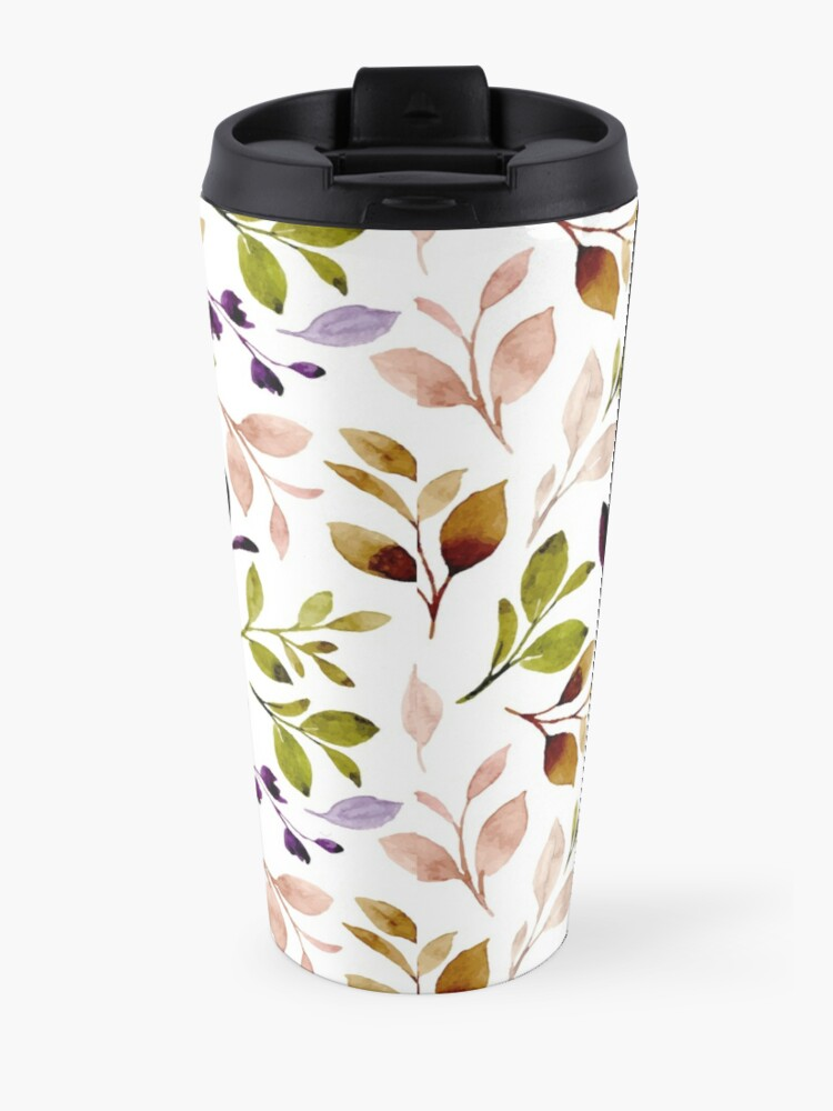 Alternate view of Leaf painting in watercolor Travel Mug