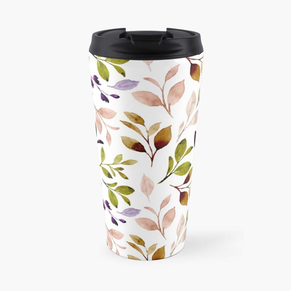 Leaf painting in watercolor Travel Mug