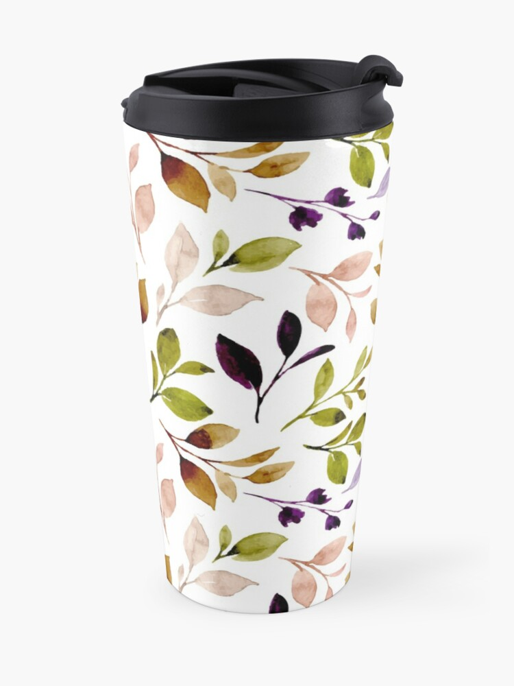 Leaf painting in watercolor, shop with prints on demands,mugs,t shirt,pillows