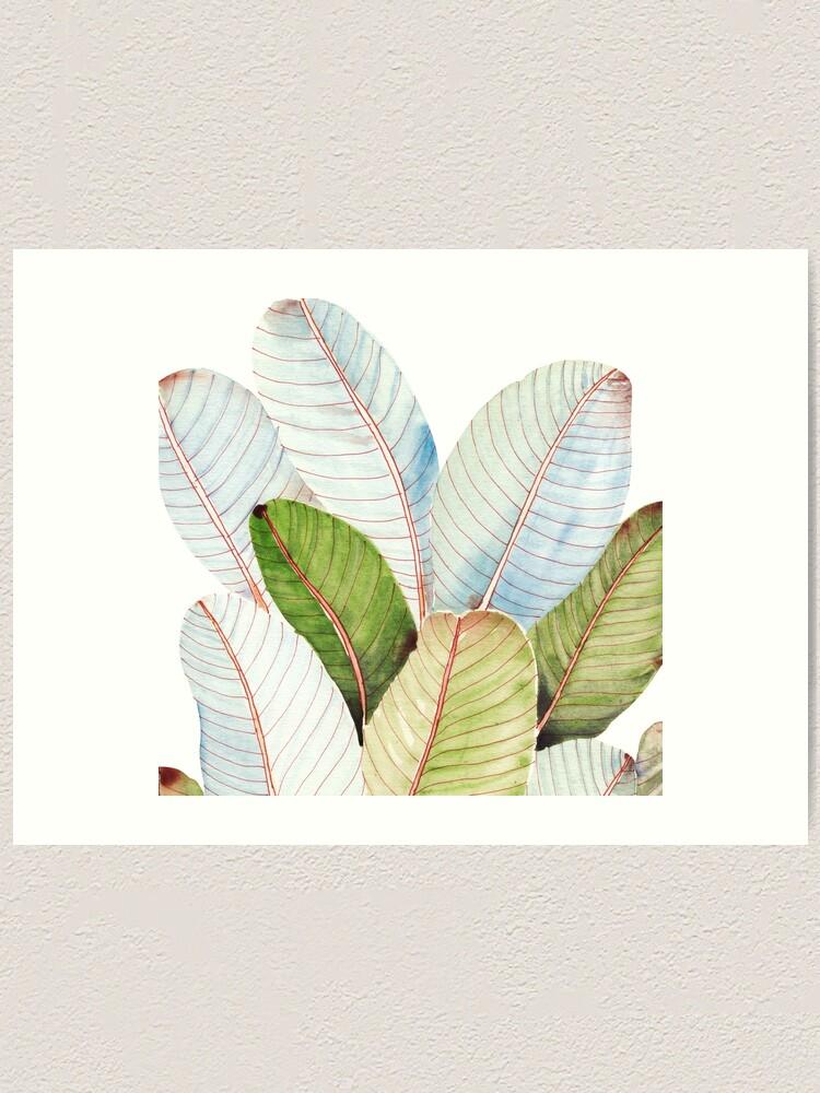 Alternate view of Banana Leaves| Tropical Leaves Art Print