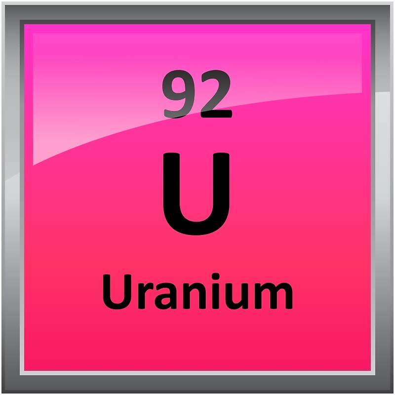 Uranium Element Symbol Periodic Table Photographic Prints By