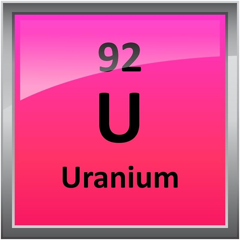 Uranium element symbol periodic table posters by sciencenotes uranium element symbol periodic table by sciencenotes urtaz Images