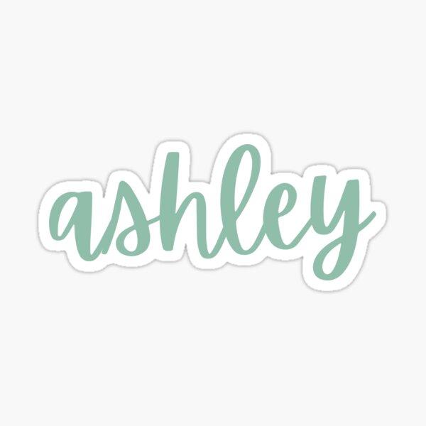 Nombre Ashley - Verde salvia Pegatina