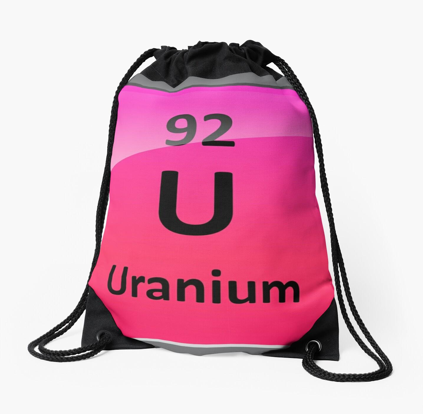 Uranium element symbol periodic table drawstring bags by uranium element symbol periodic table by sciencenotes buycottarizona Images