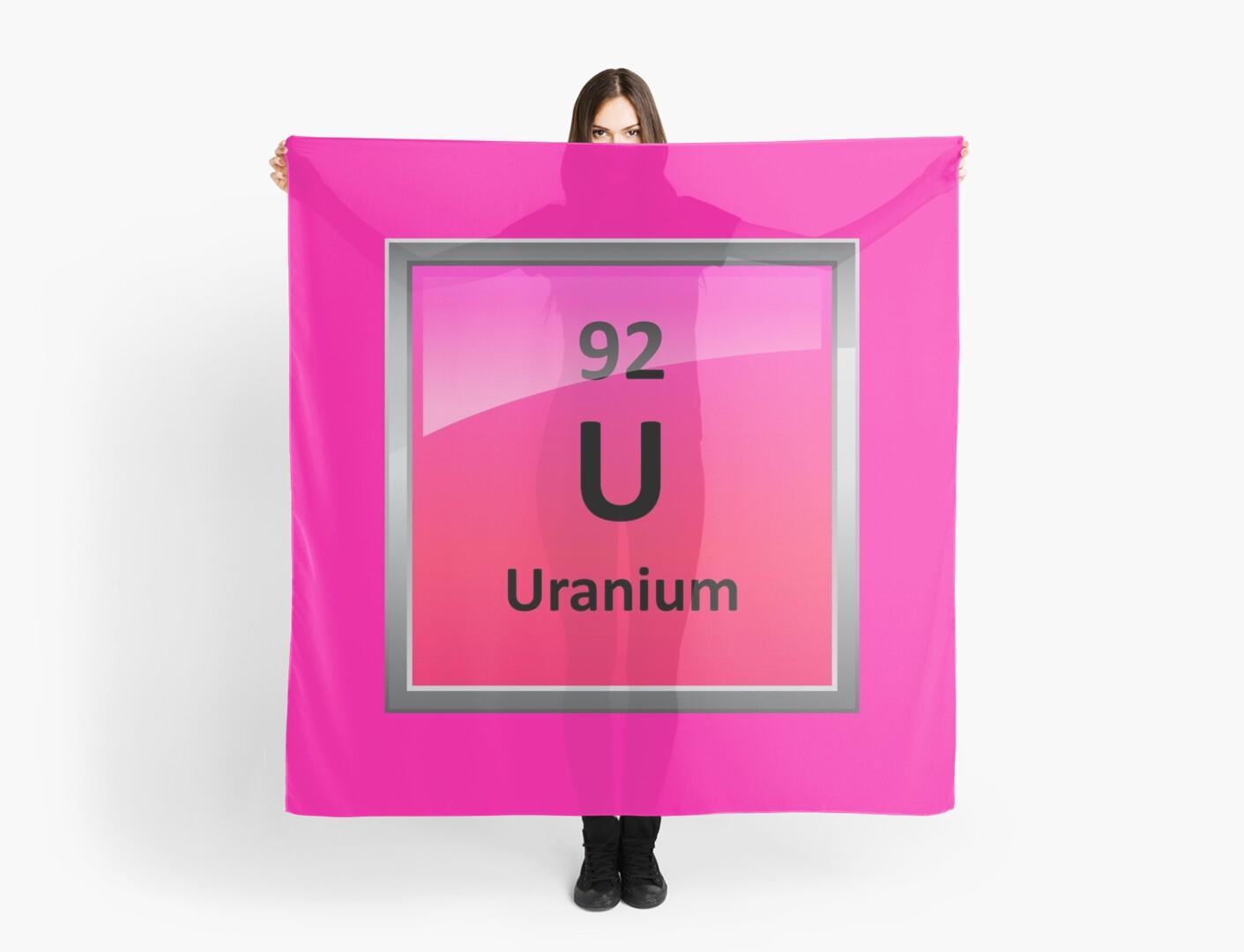 Uranium element symbol periodic table scarves by sciencenotes uranium element symbol periodic table by sciencenotes buycottarizona Images