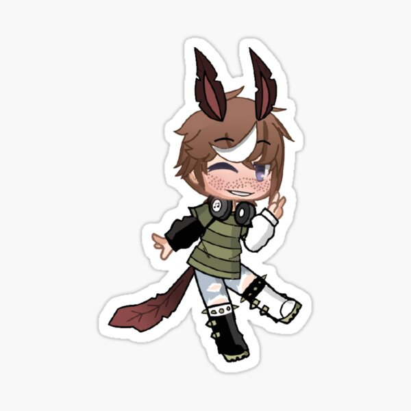Gacha Life Design Enfant Loup Sticker