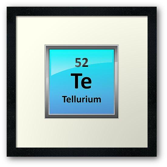 Lminas enmarcadas smbolo de elemento de teluro tabla peridica smbolo de elemento de teluro tabla peridica de sciencenotes urtaz Gallery